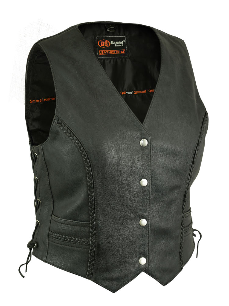 Wholesale Motorcycle Vests Ds222 Women S Braided Vest