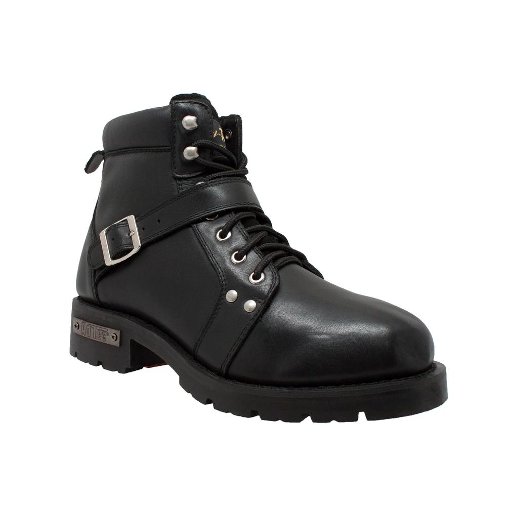 9143 Men S Ykk Zipper Biker Boot Black Men S Boots