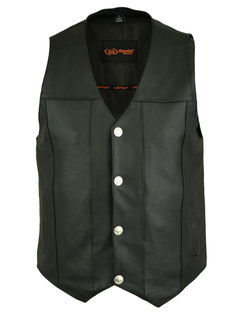 DS141 Men's Single Back Panel Concealed Carry Vest (Buffalo Nickel Head Snaps) image