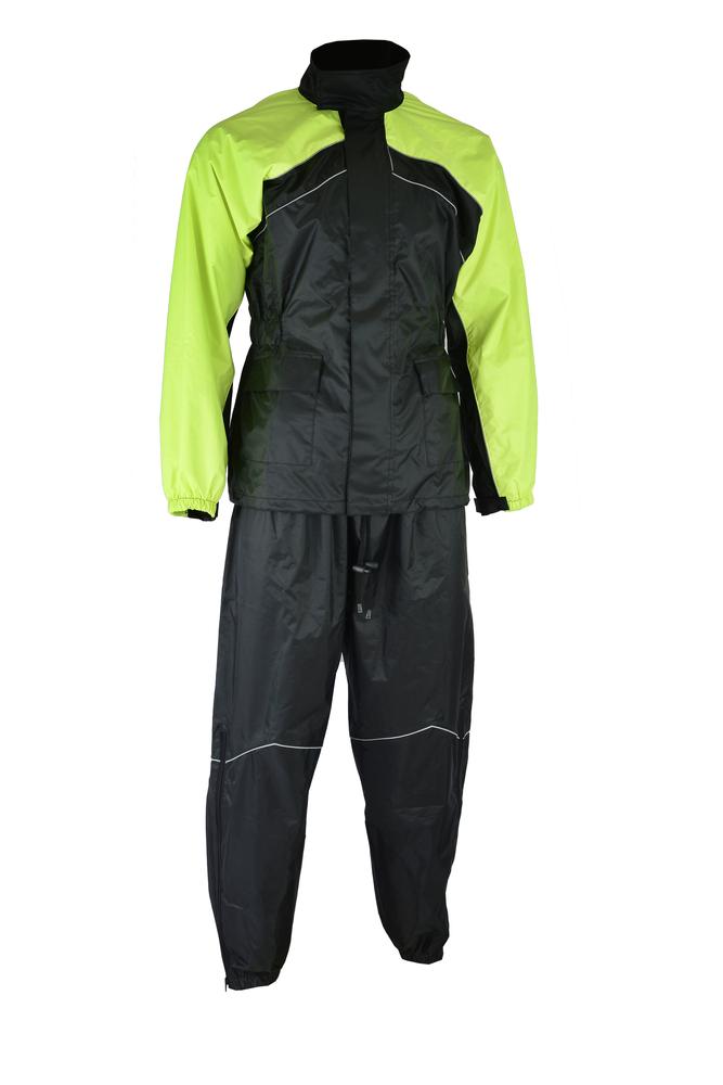 Ds592hv Rain Suit Hi Viz Yellow Rain Suits