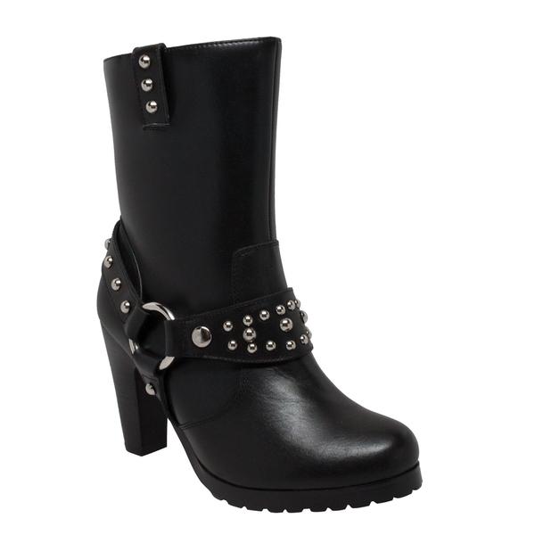 8546 Women's Heeled Boot w/Studs | Women's Footwear