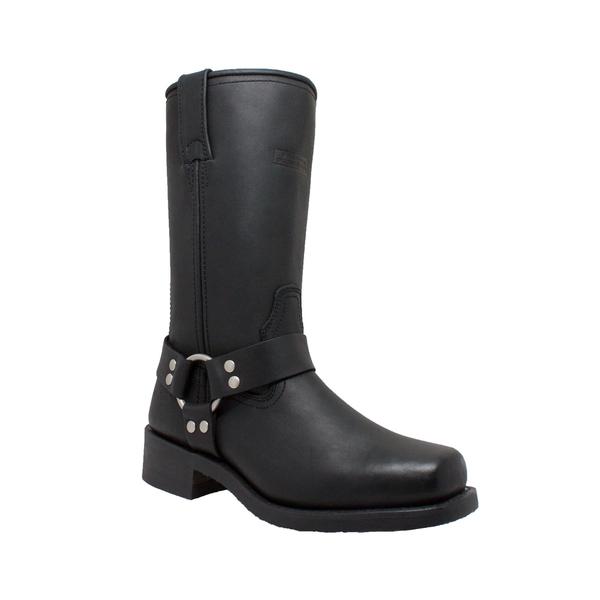 2442 Women's Harness Boot-Black | Women's Footwear