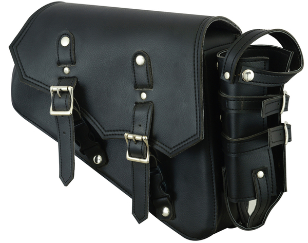 DS5011R Right Side Synthetic Leather Swing Arm Bag w/Bottle Holder | Swingarm Bags