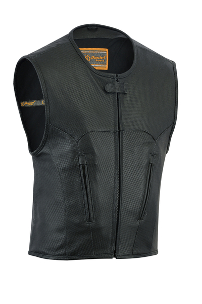DS004 Men's Updated Perforated SWAT Team Style Vest | Men's Leather Vests