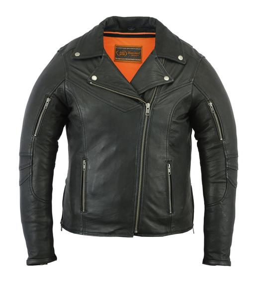 DS894 Women's Modern Longer Beltless Biker Jacket | Women's Leather Jackets