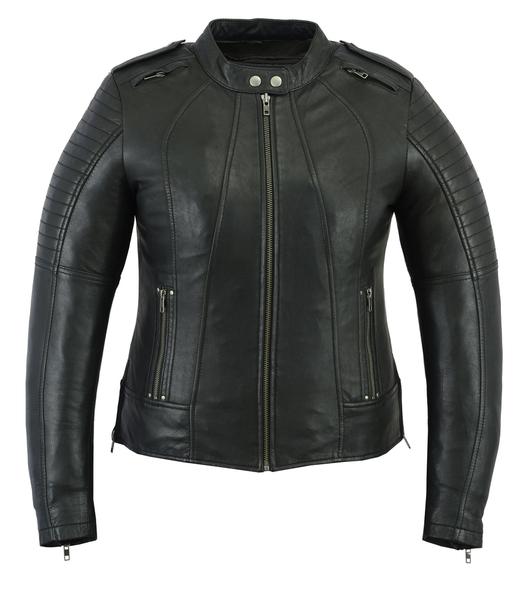 DS893 Women's Updated Biker Style Jacket | Women's Leather Jackets