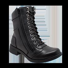 8650 Women's Zipper Biker Boot | Women's Footwear