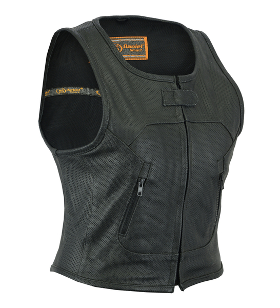 DS002 Women's Updated Perforated SWAT Team Style Vest | Women's Leather Vests
