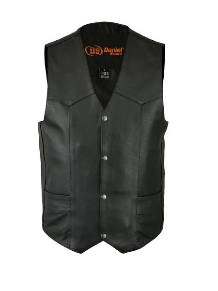 DS109 Men's Traditional Light Weight Vest | Men's Leather Vests
