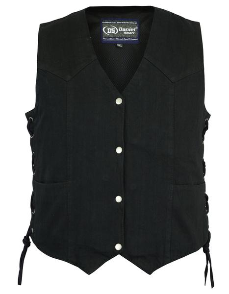 DM952 Women's Denim Classic Side Lace Vest | Women's Denim Vests