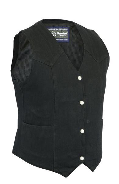 DM951 Women's Denim Classic Plain Sides Vest | Women's Denim Vests
