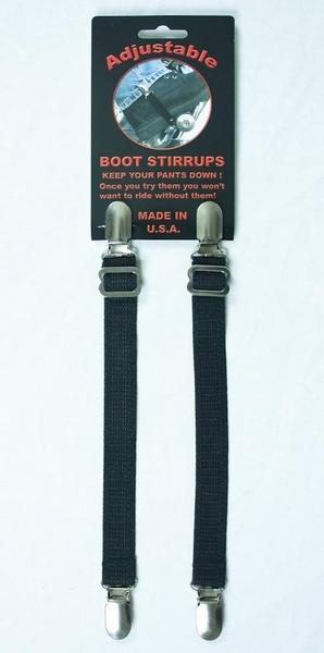 J121 Adjustable Boot Stirrups | Boot Clips