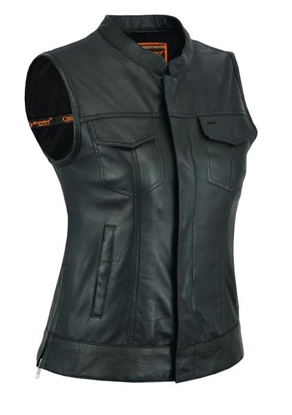 Wholesale Motorcycle Vests    DS205 Women's Single Back Panel Vest