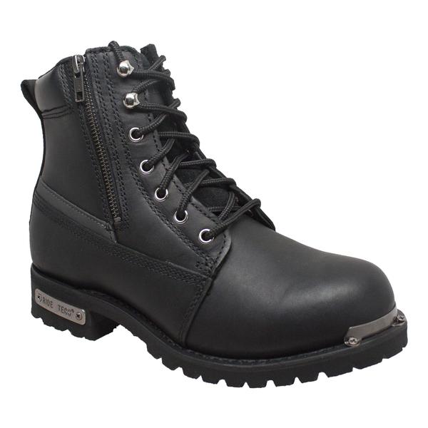 9797M Mens 6' Reflective Double Zipper Biker Boot | Men's Boots