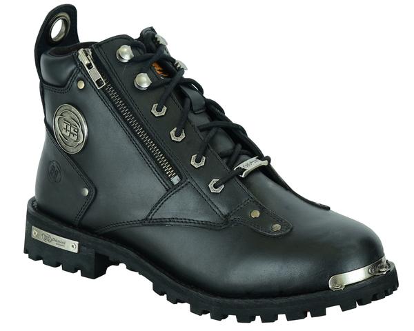 DS9730 Men's 6'' Side Zipper Plain Toe Boot | Men's Footwear