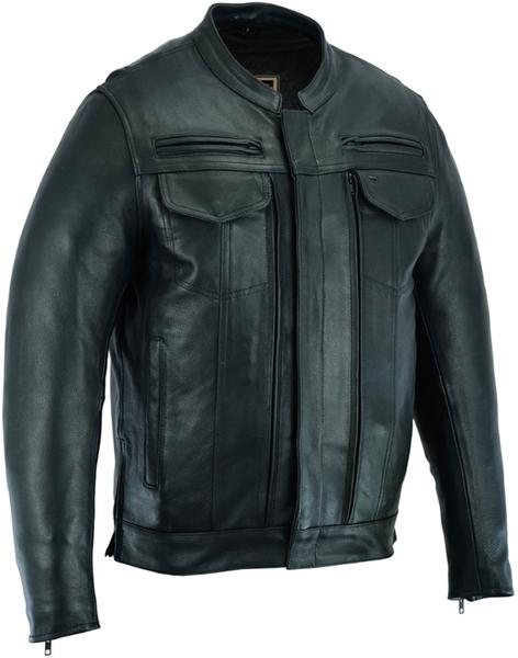 DS787 Men's Modern Utility Style Jacket | Men's Leather Jackets