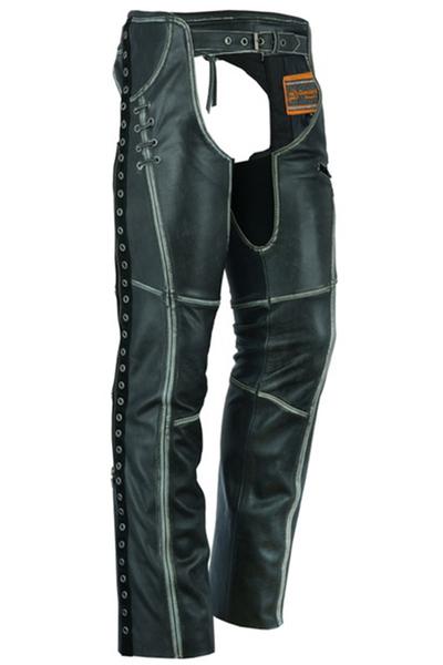 DS485V Women's Gray Stylish Lightweight Hip Set Chaps | Chaps & Pants