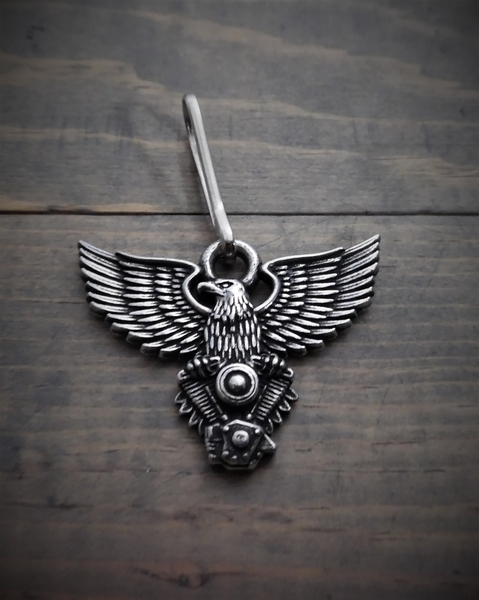 BZP-23 Eagle V-Twin Zipper Pull | Zipper Pulls