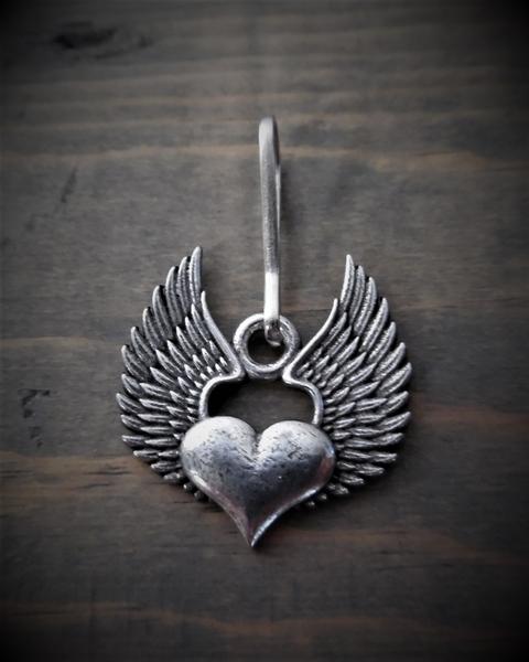 BZP-31 Heart Wing Zipper Pull | Zipper Pulls