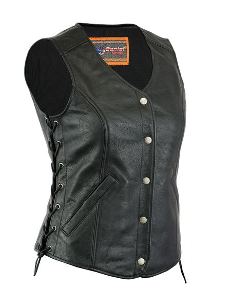 DS266  Women's Premium Classy Longer Body 3/4 Vest | Women's Leather Vests
