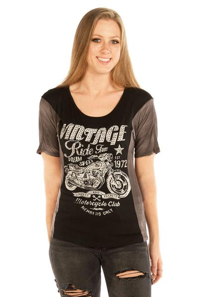 7058BLK Vintage Ride Free Dream Speed | Women's Shirts