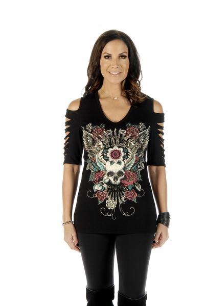 7223BLK Devilish Cuts   Women's Shirts