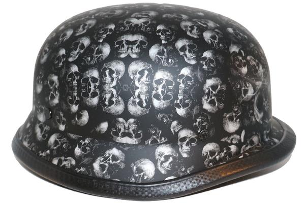 Wholesale Novelty Helmets   H14 Novelty German Chrome - Non- DOT