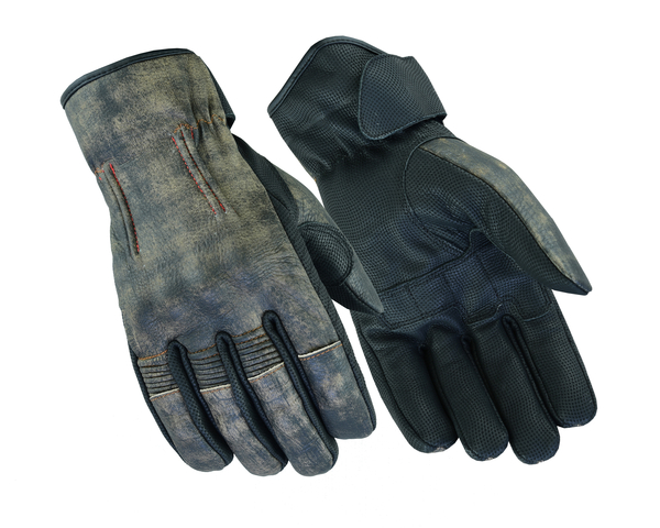 DS95 Men's Feature-Packed Washed-Out Brown Rakish Glove   Men's Lightweight Gloves