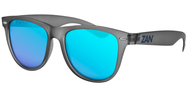 EZMT03 Minty Matte Gray Frame, Smoked Blue Mirror Lens | Sunglasses