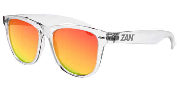 EZMT04 Minty Clear Frame, Smoked Crimson Mirrored lens | Sunglasses
