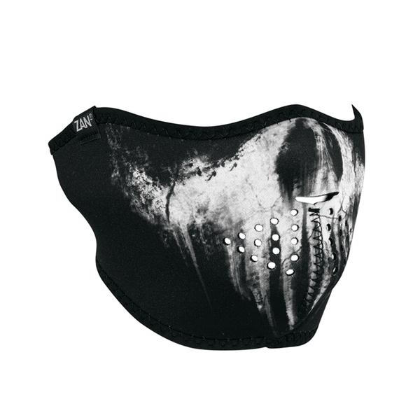WNFM409H Neoprene Half Face Mask, Skull Ghost | Half Facemasks
