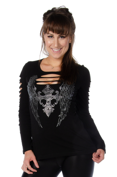 7197BLK Dark Angel Long Sleeve | Women's Shirts