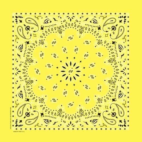 NT4403 Bandana Paisley Yellow | Bandanas