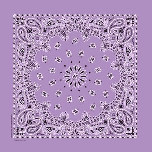 NT4405 Bandana Paisley Lavender | Bandanas