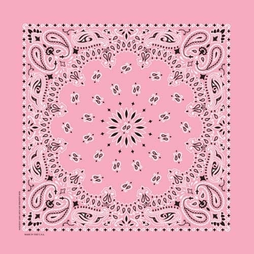 NT4408 Bandana Paisley Light Pink | Bandanas