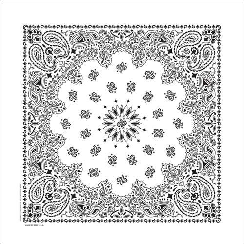 NT4409 Bandana Paisley White | Bandanas