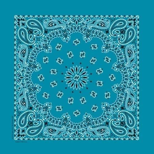 NT4412 Bandana Paisley Turquoise | Bandanas
