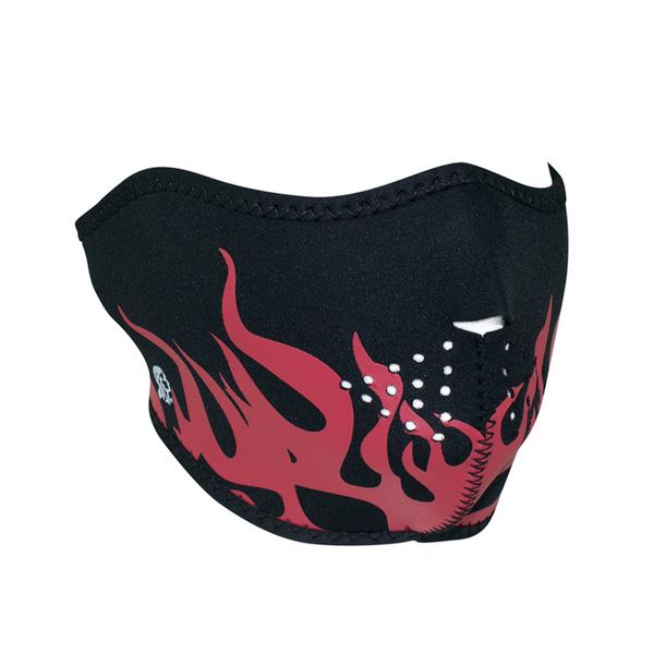 WNFM229RH ZAN® Half Mask- Neoprene- Red Flames | Half Facemasks