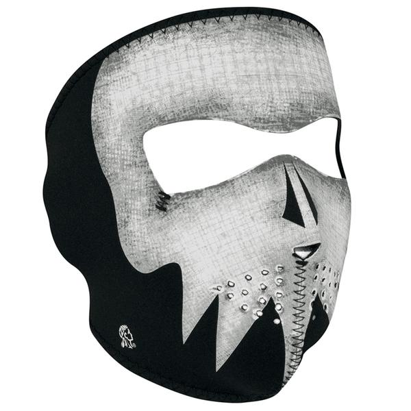 WNFM081G ZAN® Full Mask- Neoprene- Gray Skull, Glow in the Dark | Full Facemasks