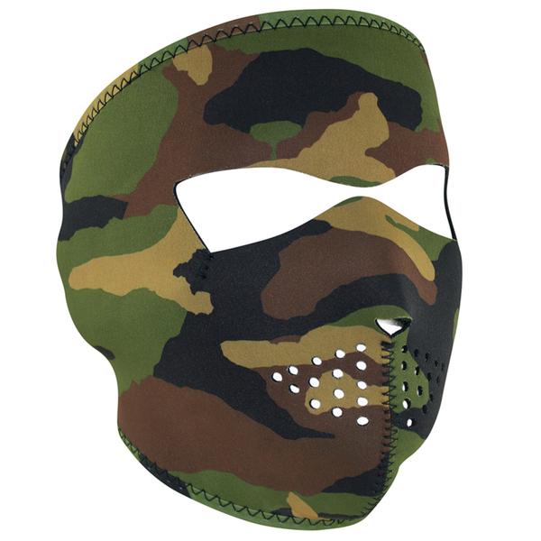 WNFM118 ZAN® Full Mask- Neoprene- Woodland Camo | Full Facemasks