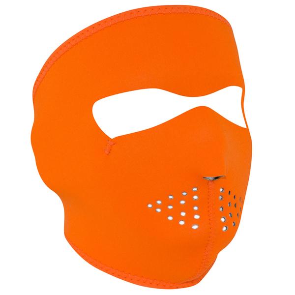 WNFM142 ZAN® Full Mask- Neoprene- High-Visibility Orange | Full Facemasks