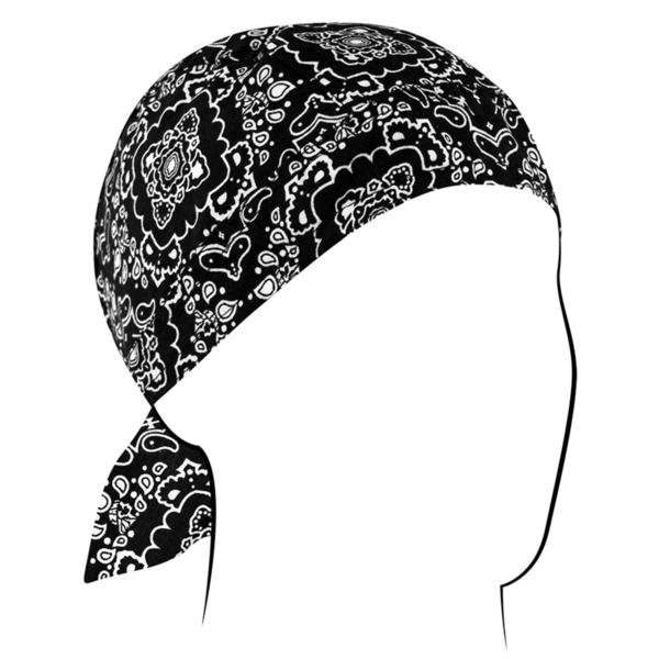 Z101 Flydanna®, Cotton, Black Paisley | Headwraps