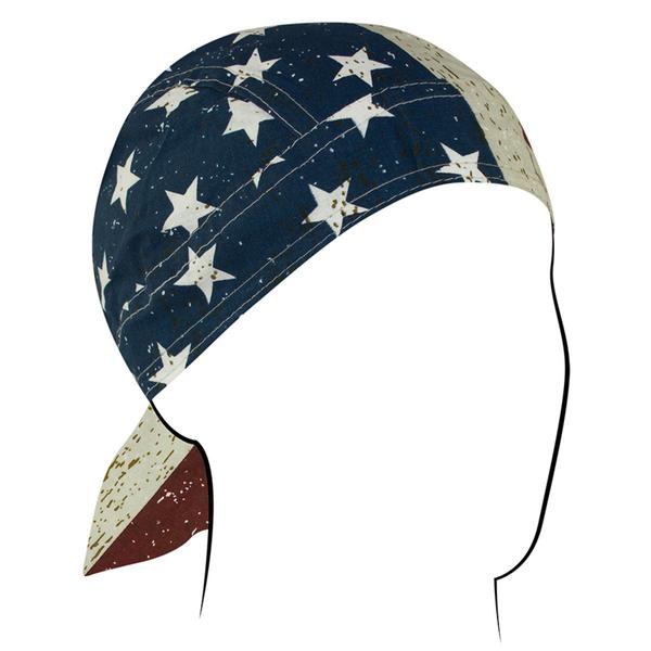 Z904 Flydanna®, Cotton, Vintage American Flag   Headwraps