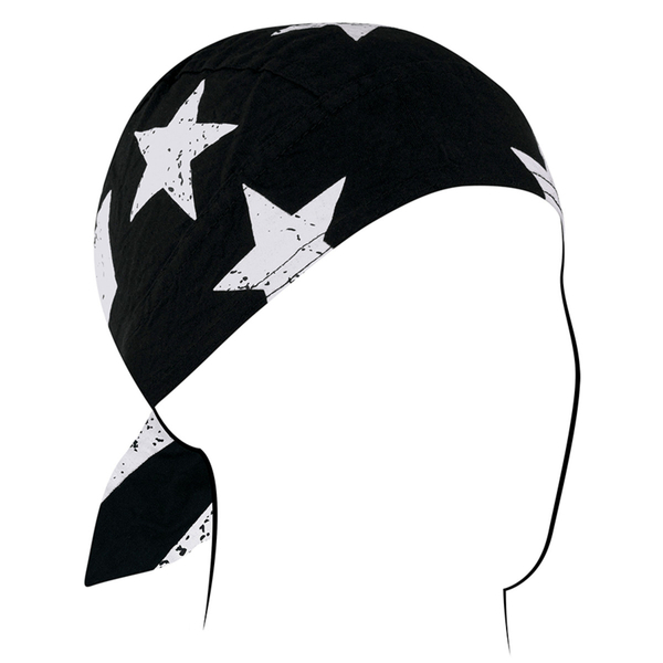Z903 Flydanna®, Cotton, Black & White Vintage American Flag | Headwraps
