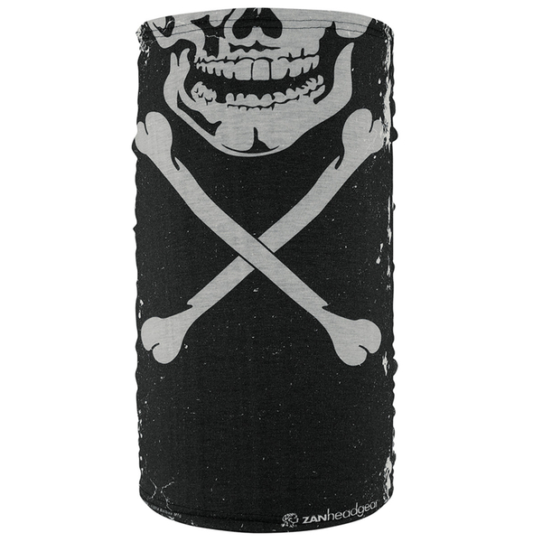 TF227 Motley Tube® Fleece Lined- Skull Xbones | Head/Neck/Sleeve Gear