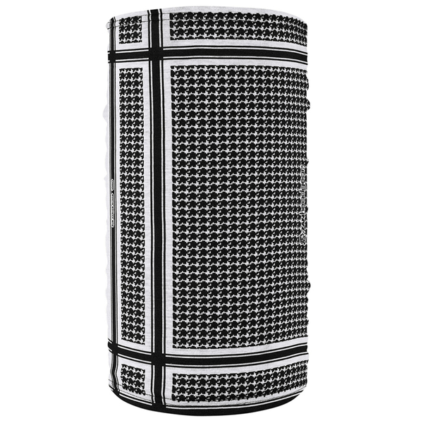 TF235BW Motley Tube® Fleece Lined- Houndstooth, Black and White | Head/Neck/Sleeve Gear