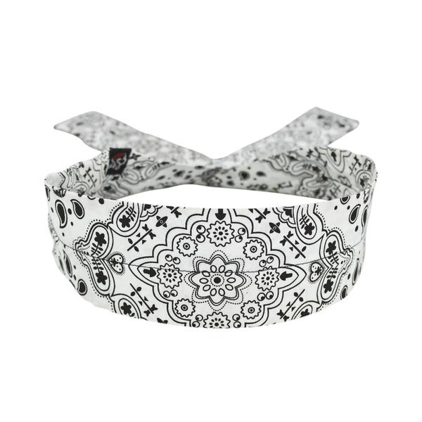 D102 Cooldanna® White Paisley | Head/Neck/Sleeve Gear