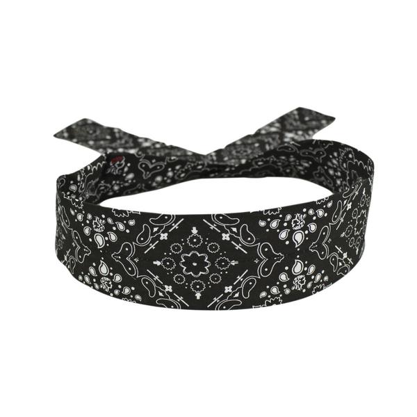 DP101 Cooldanna® Polyester, Black Paisley | Head/Neck/Sleeve Gear
