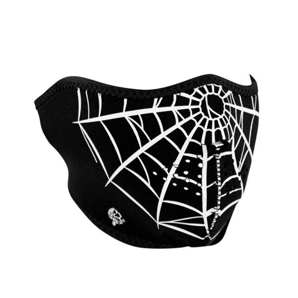 WNFM055H ZAN® Half Mask- Neoprene- Spider Web | Half Facemasks