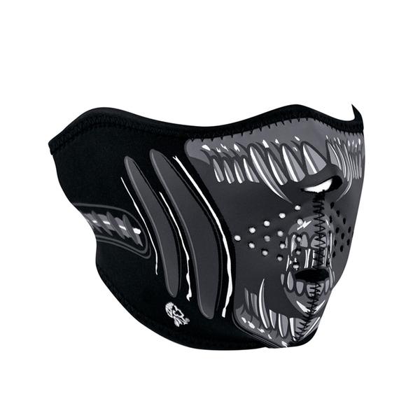 WNFM039H ZAN® Half Mask- Neoprene- Alien | Half Facemasks
